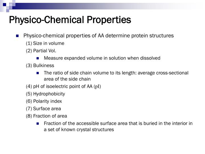 Physico-Chemical Properties