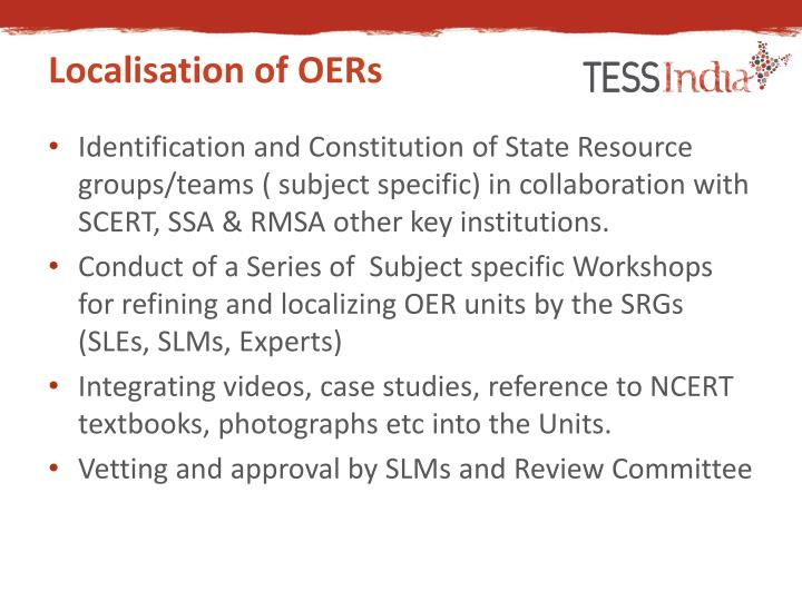 Localisation of OERs