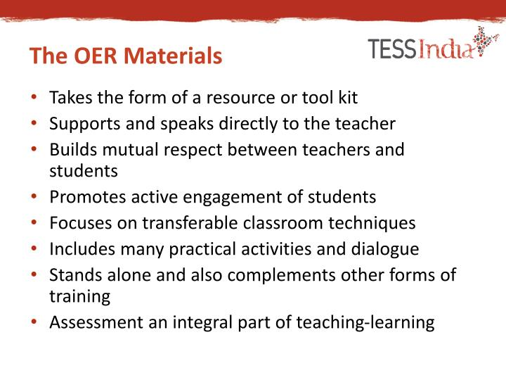 The OER Materials
