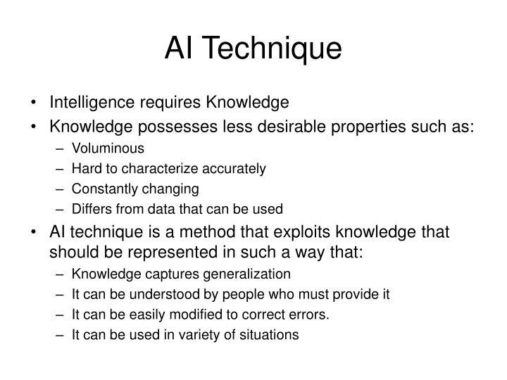 AI Technique