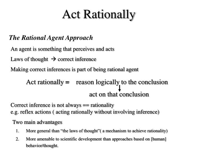 Act Rationally