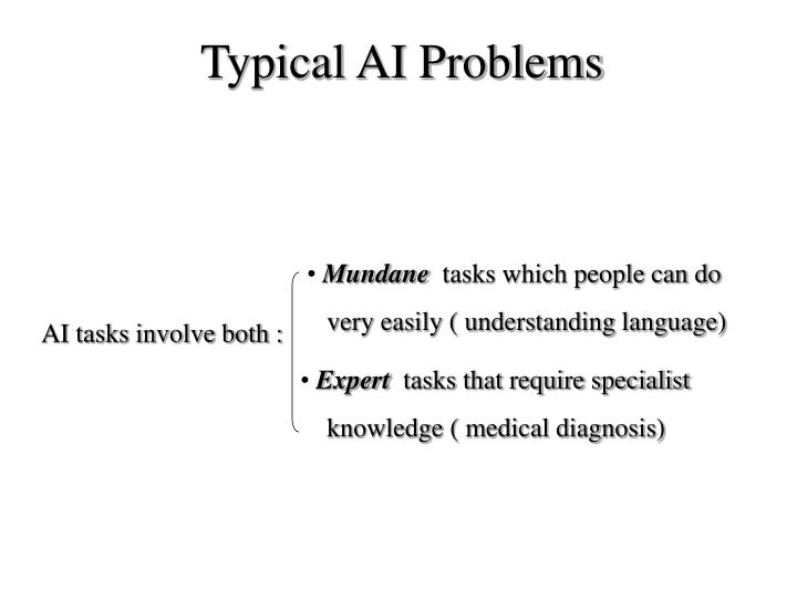 Typical AI Problems