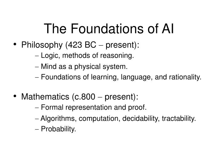 The Foundations of AI