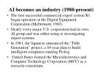 ai becomes an industry 1980 present