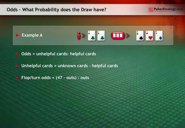 Odds – What Probability does the Draw have?