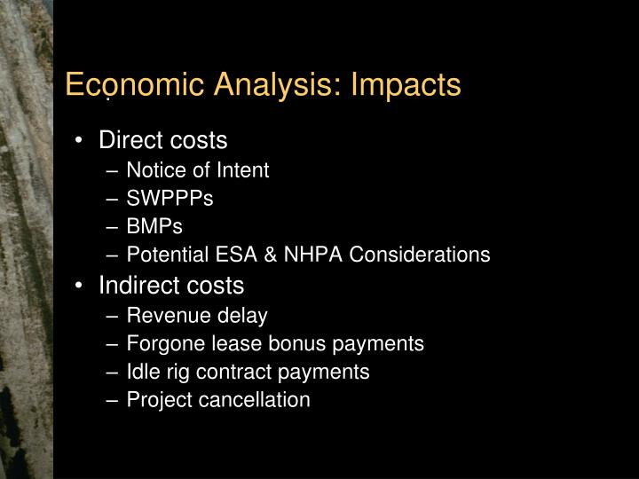 Economic Analysis: Impacts