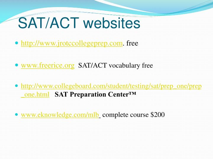 SAT/ACT websites