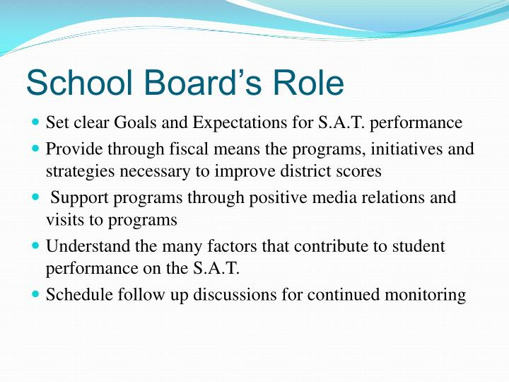 School Board's Role