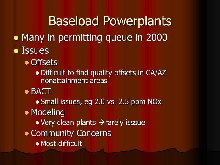 Baseload Powerplants