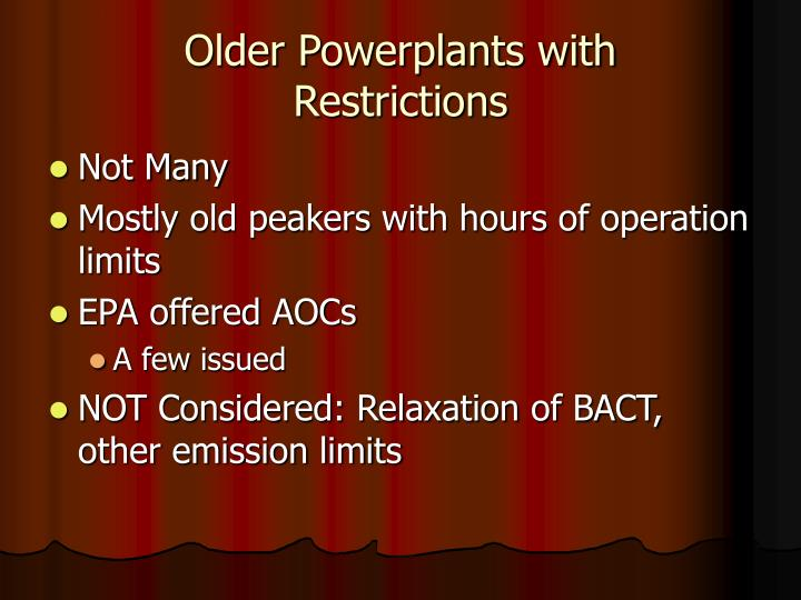 Older Powerplants with
