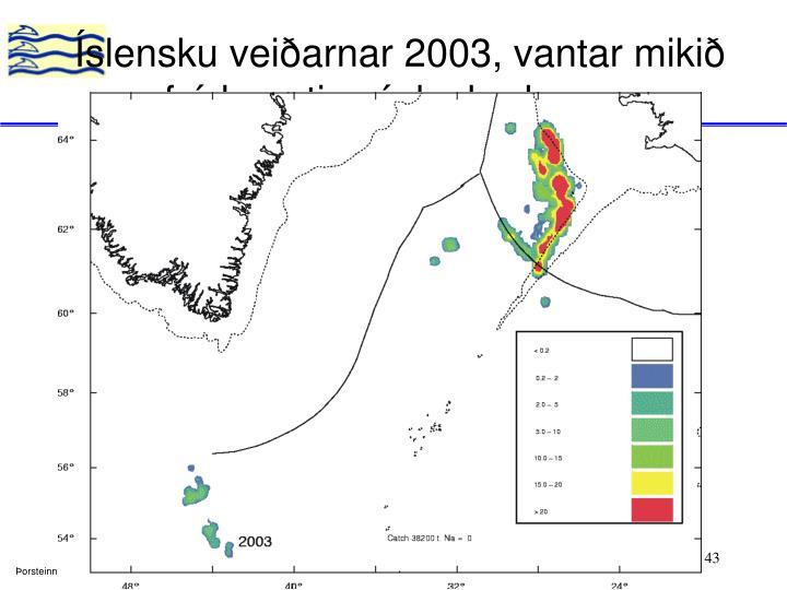 Íslensku veiðarnar 2003, vantar mikið frá haustinu í dagbækurnar