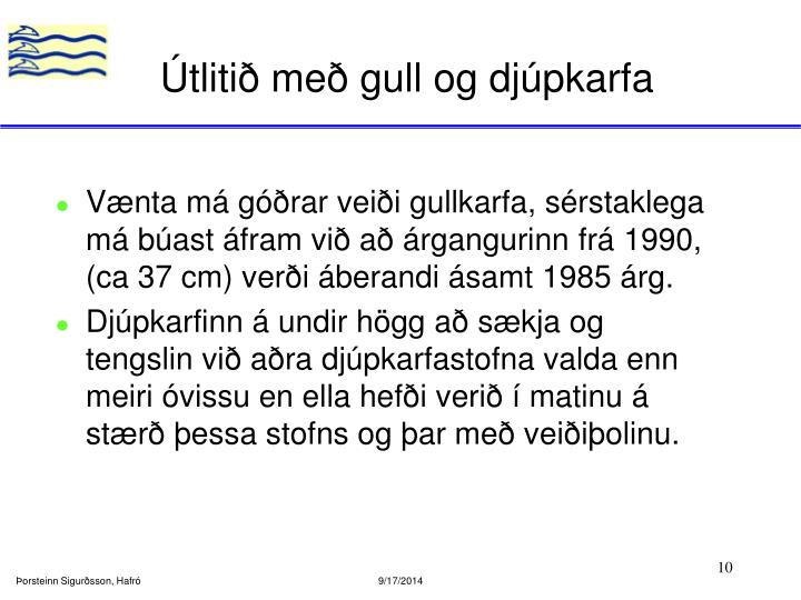 Útlitið með gull og djúpkarfa