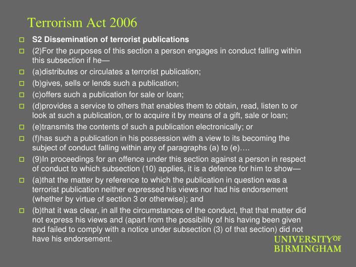 Terrorism Act 2006