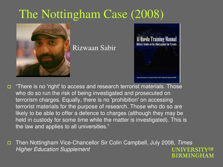 The Nottingham Case (2008)