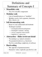 definitions and summary of concepts i