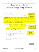 roots of a x 2 b x c modular design using functions