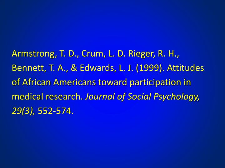 Armstrong, T. D., Crum, L. D. Rieger, R. H.,