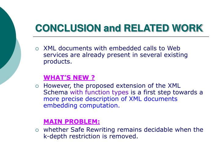 CONCLUSION and RELATED WORK