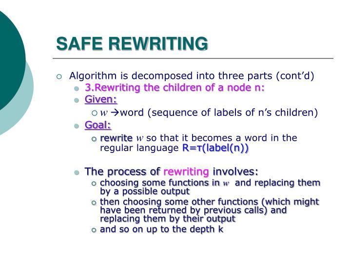 SAFE REWRITING
