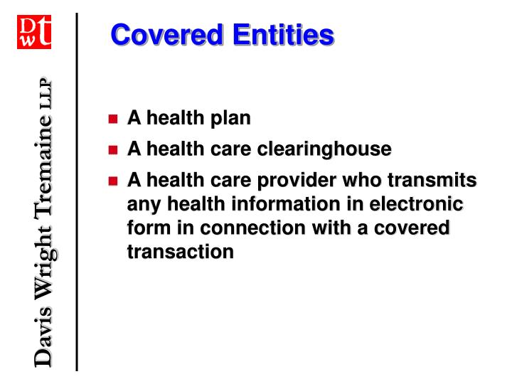 Covered entities