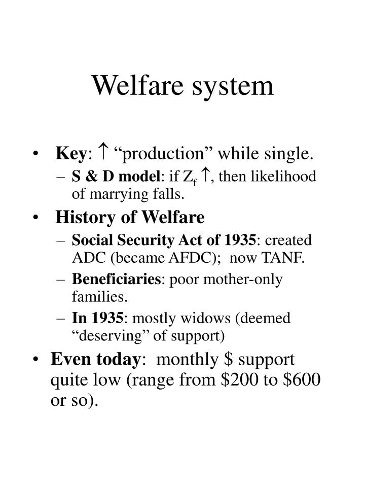 Welfare system