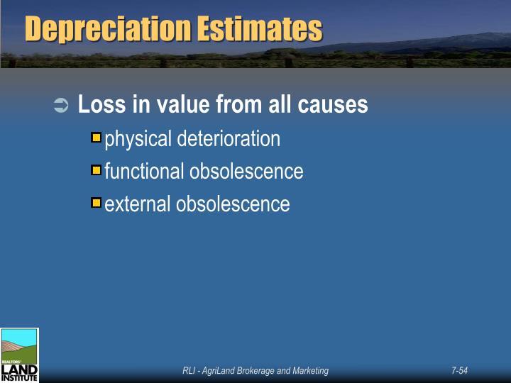 Depreciation Estimates