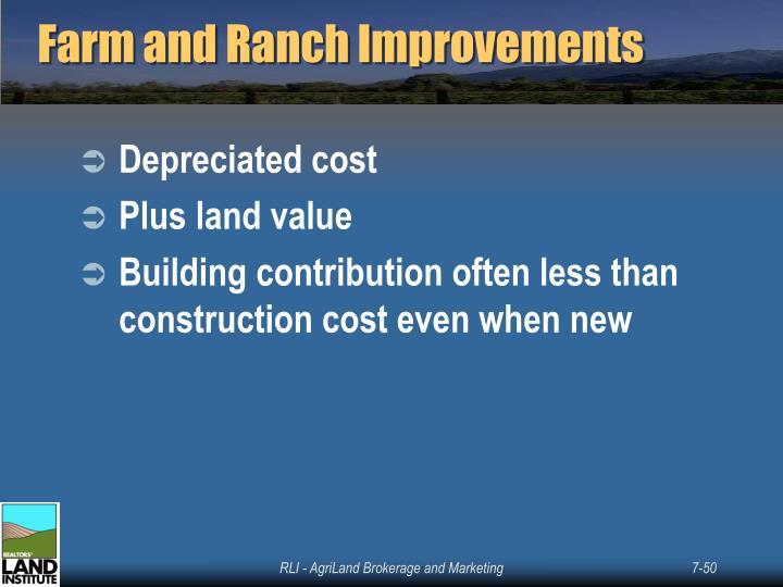 Farm and Ranch Improvements