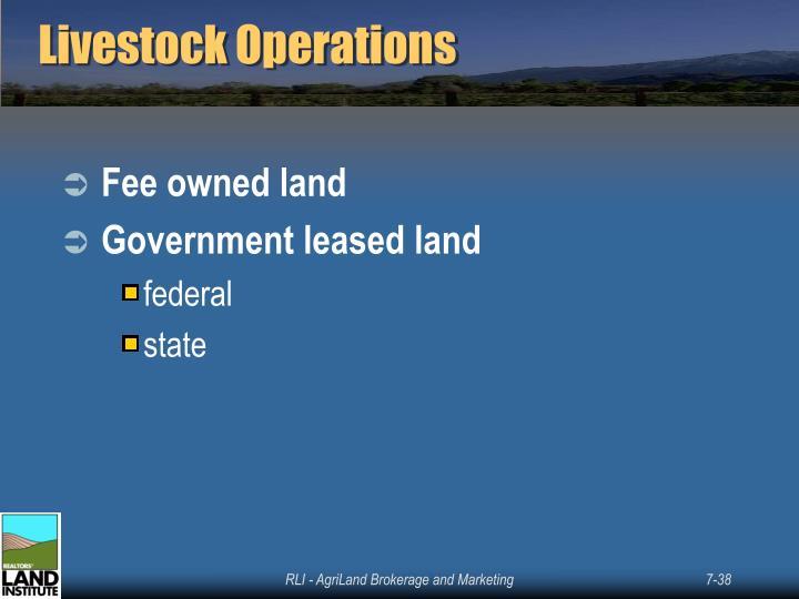 Livestock Operations