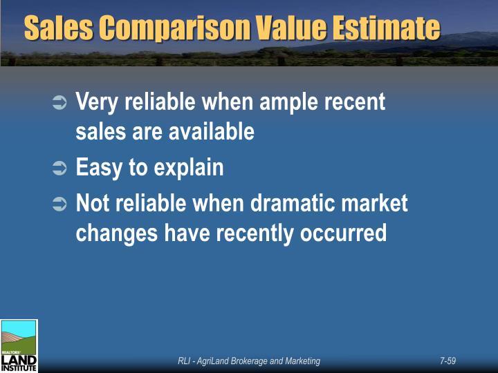 Sales Comparison Value Estimate