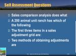self assessment questions