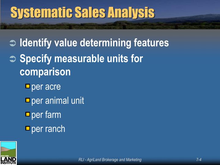 Systematic Sales Analysis