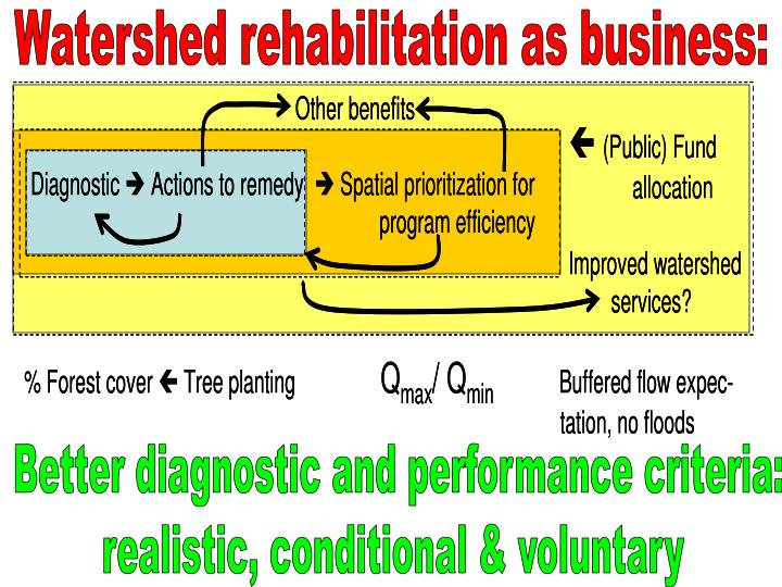 Watershed rehabilitation as business: