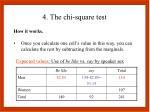 4 the chi square test8