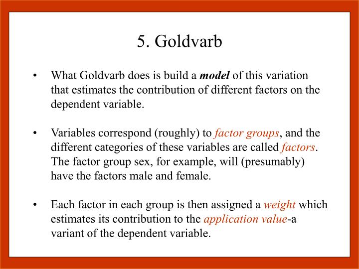 5. Goldvarb