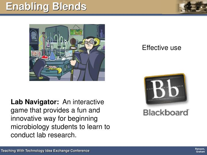 Enabling Blends