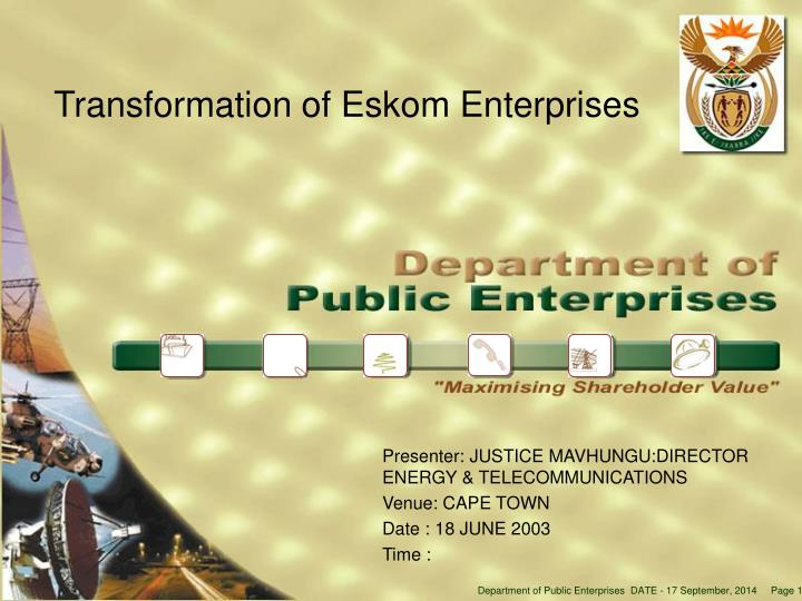 Transformation of eskom enterprises