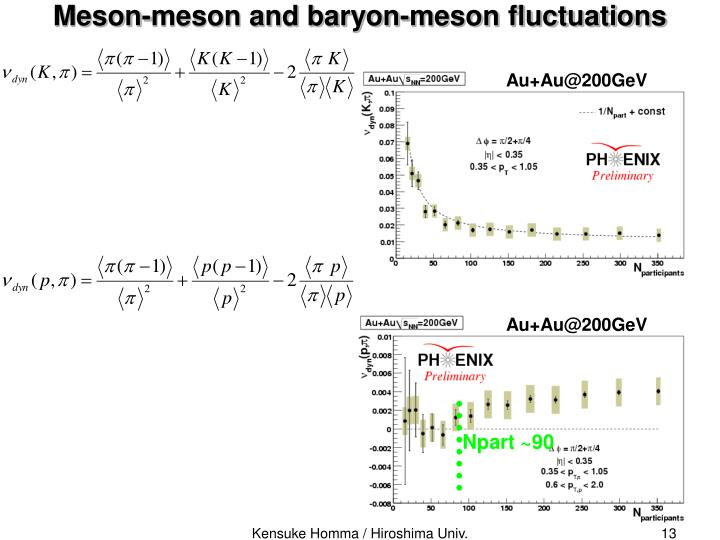 Meson-meson and baryon-meson fluctuations