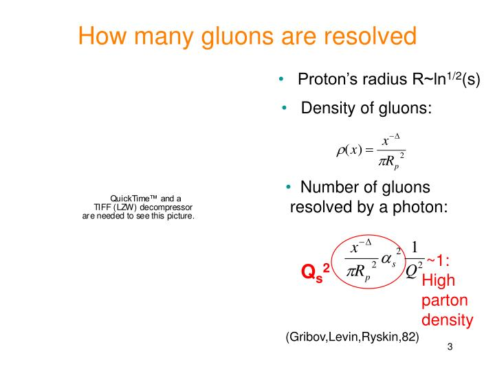 How many gluons are resolved