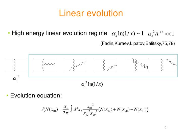 Linear evolution