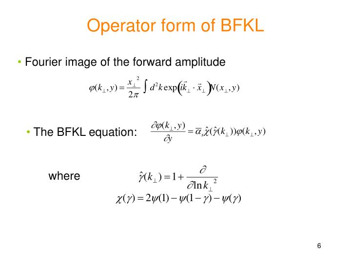 Operator form of BFKL