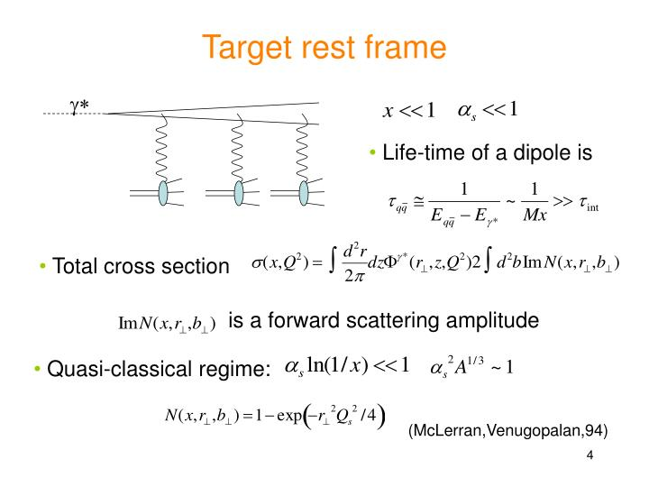 Target rest frame