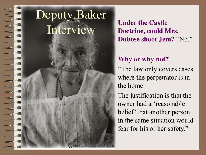 Deputy Baker