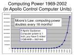 computing power 1969 2002 in apollo control computer units