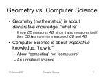 geometry vs computer science