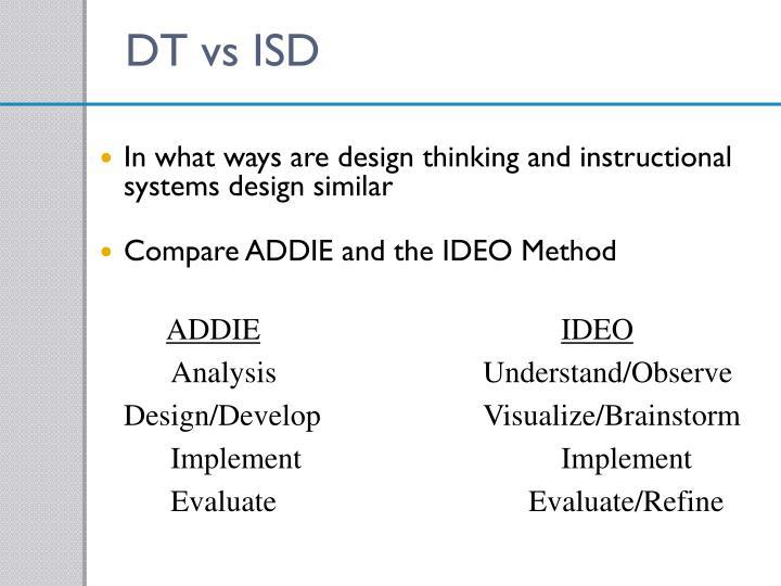 DT vs ISD