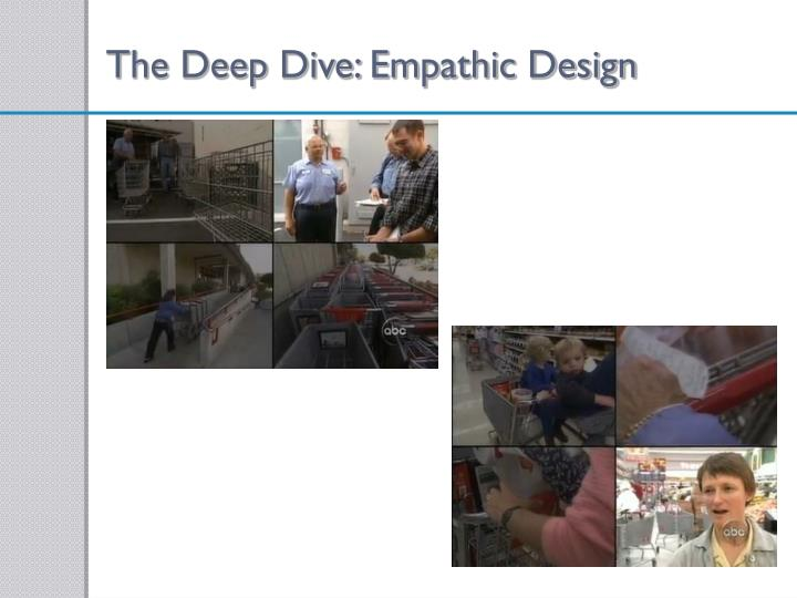 The Deep Dive: Empathic Design