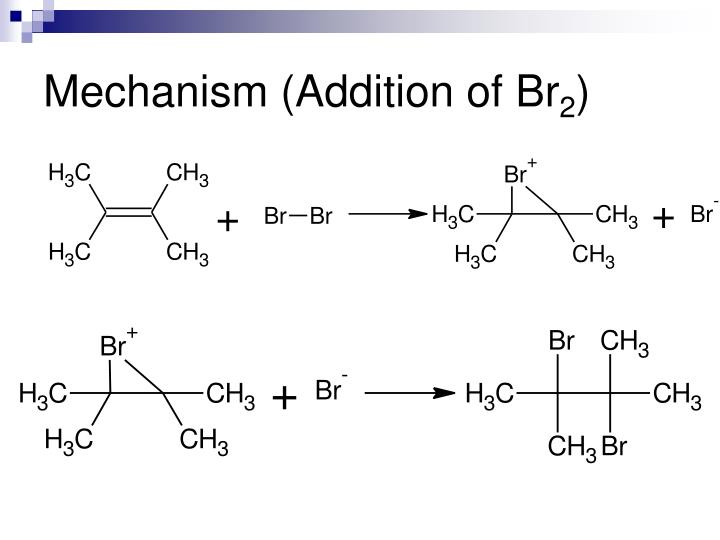 Mechanism addition of br 2