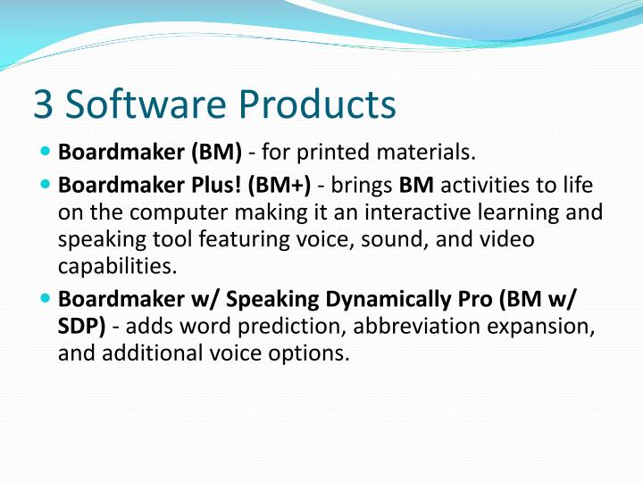 3 Software Products