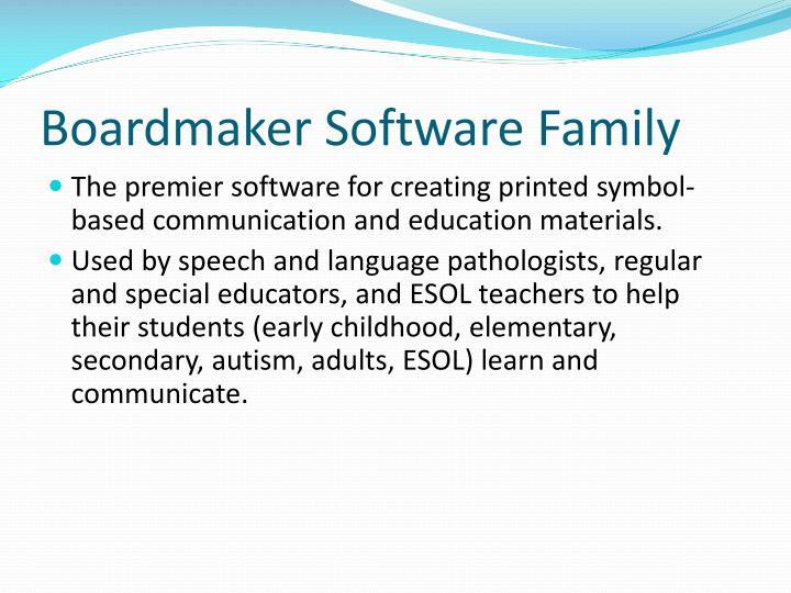 Boardmaker Software Family