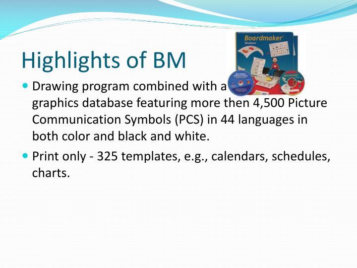 Highlights of BM